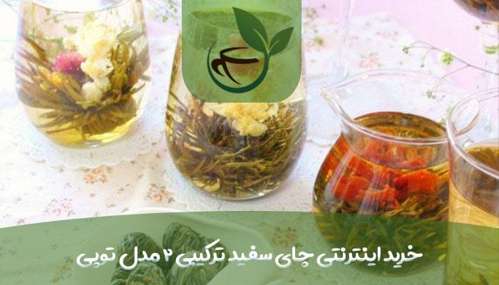 خرید اینترنتی چای سفید ترکیبی 2 مدل توپی-min